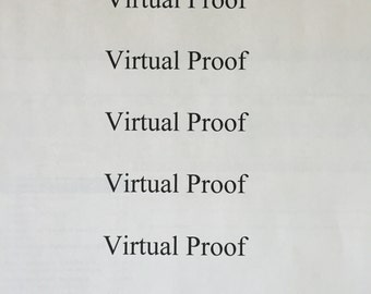 Virtual Proof for the Printed Item of your choice