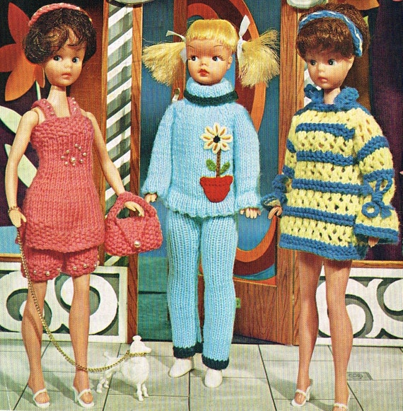 Knitting Patterns For Teenage Dolls : 12 Teenage Dolls clothes knitting pattern. Barbie or