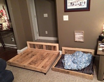 rustic reclaimed pallet wood dog bed. Black Bedroom Furniture Sets. Home Design Ideas