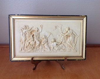 3D Resin Wall Sculpture of Greek Women Hunting and Celebrating Life