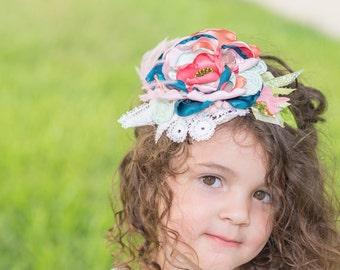Sherbet vintage lace headband