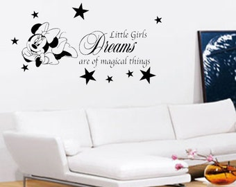 Minnie Mouse Wall Art - Vinyl Wall Art Sticker Decal - Bedroom