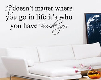 Beside You Wall Art - Vinyl Wall Art Sticker Decal