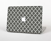 The Gray & White Seamless Morocan Pattern Skin for the Apple MacBook Air - Pro or Pro with Retina Display (Choose Version)