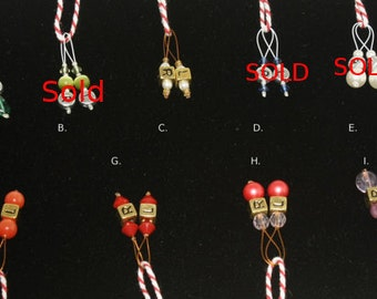 Handmade Left and Right  Stitch Markers