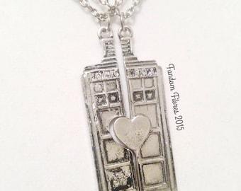 TARDIS Best Friend Necklaces