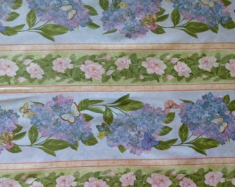 Cotton Fabric , Quilt Fabric, Home Decor, Floral, Hydrangea Radiance, Wilmington Prints, Fast Shipping
