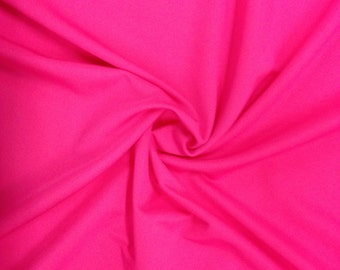 "Hot Pink Spandex Fabric SALE 4 Way Stretch Lycra Knit nant 48"" by 60"" Wide"