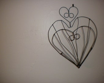 Heart Shaped Decorative Wire Basket