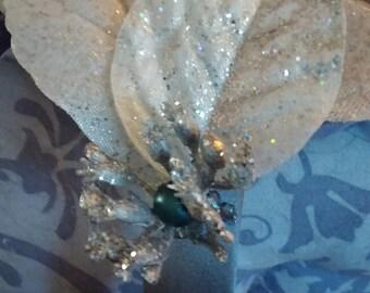 Silver Petal Headband