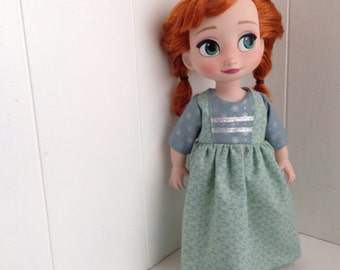 Spring Anna Inspired Dress - For Disney Animator Doll