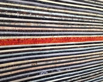 """CLEARANCE: Abstract fiber art. Modern quilt. Black & white art. Wall art. Minimalist. 37x37"""" Home decor.  Contemporary textile art."""