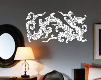 Dragon Wall Decal Etsy - Vinyl wall decals asian
