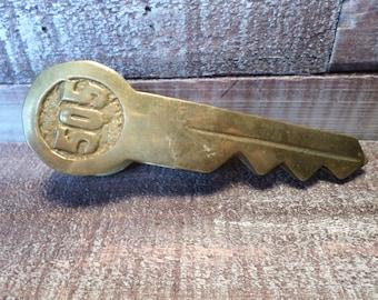 Vintage Brass Key Clip