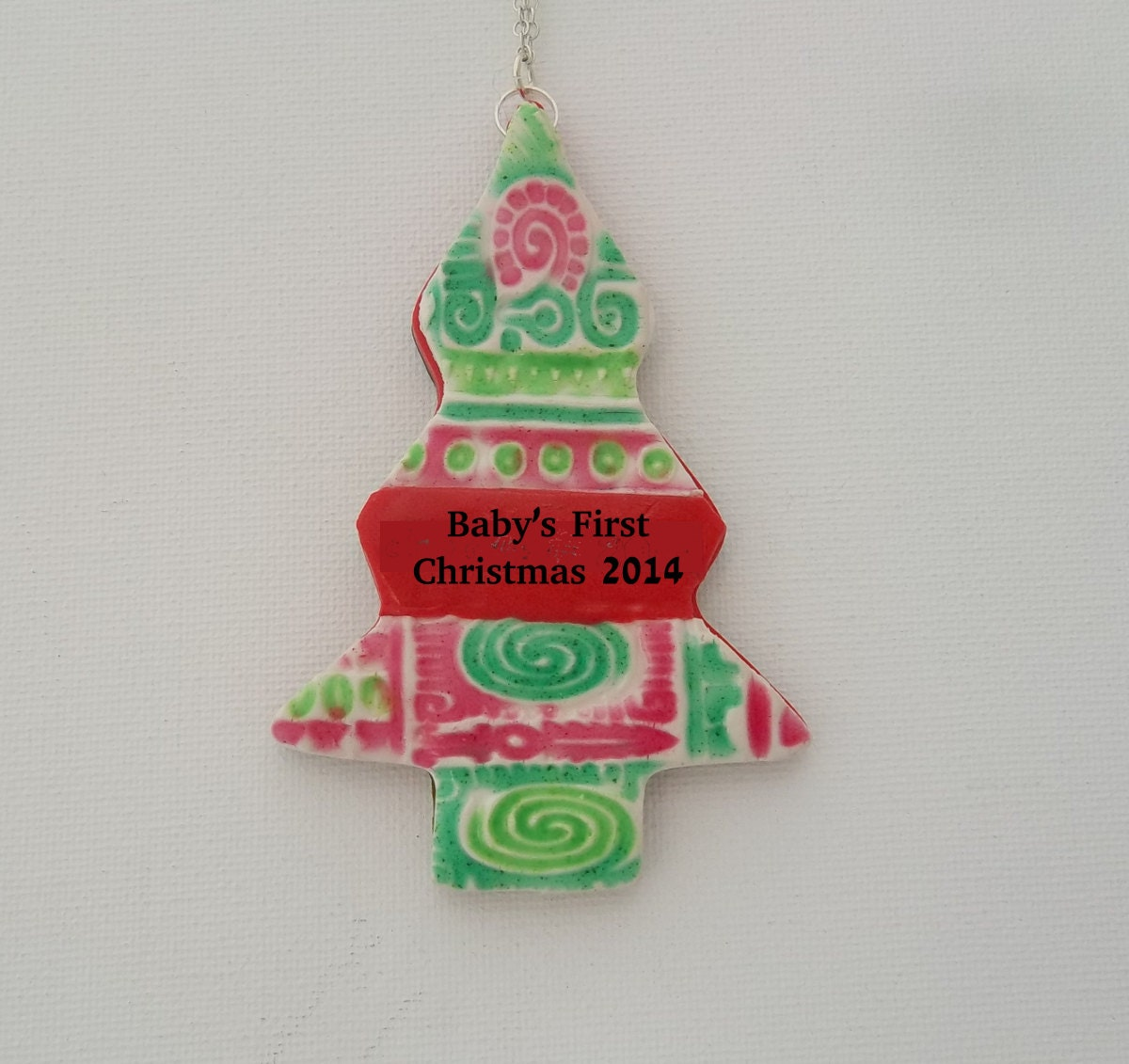 Personalized christmas ornament christmas tree by for Custom christmas tree ornaments