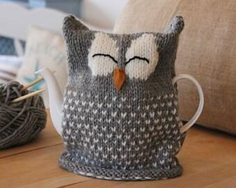 Owl Tea Cosy Knitting Pattern