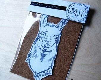 happy llama Sticker