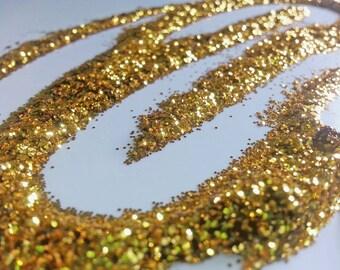 glitter - dark gold fine polyester