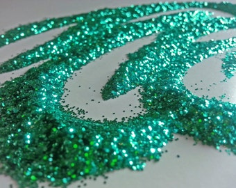 glitter - teal green fine polyester