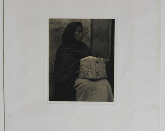 "Paul Strand,  ""Photographs of Mexico."" Mexican Portfolio 1940 Edition, Woman - Patzcuaro, Photogravure, Very Rare"