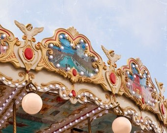 French Carrousel Photograph  - Childrens Art - Nursery Print - Fine Art Print - Wall Art