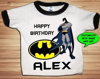 Personalized Batman Birthday Shirt - tshirt custom Comic Super Hero
