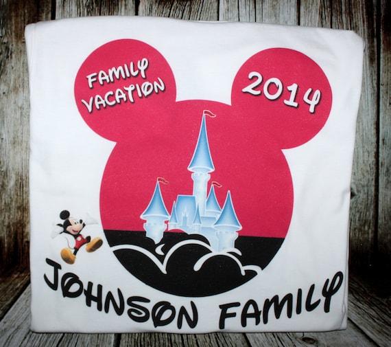 Personalized Disney Vacation Tshirts 4 PACK - Walt Disney World Vacation shirts tees t