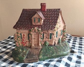 Hubley #211 Cape Cod Cottage Doorstop  -- Original Paint!