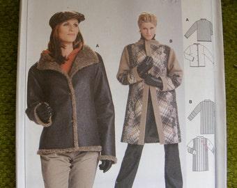 Burda Uncut Sewing Pattern 8418 - Misses' Overcoat / Jacket Size 12 14 16 18 20 22 24