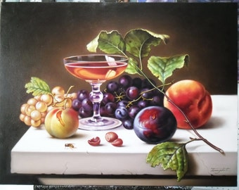 "Still life painting oil painting on canvas 24""X32"""