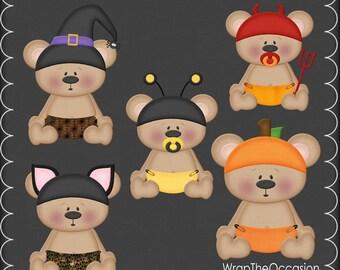 Baby Bear Halloween I Clipart