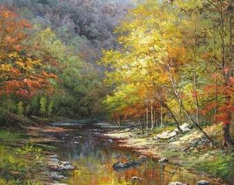 Original oil painting, custom hand painted decorative original landscape oil painting and oil portrait painting on canvas