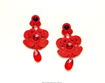 S38/14 -  Soutache earrings - made to order