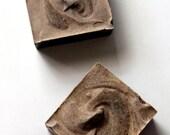 Handmade Vegan Succulent Mocha Cold Process Soap | Square | 4 Ounces