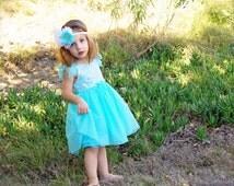 Elsa party dress - Large