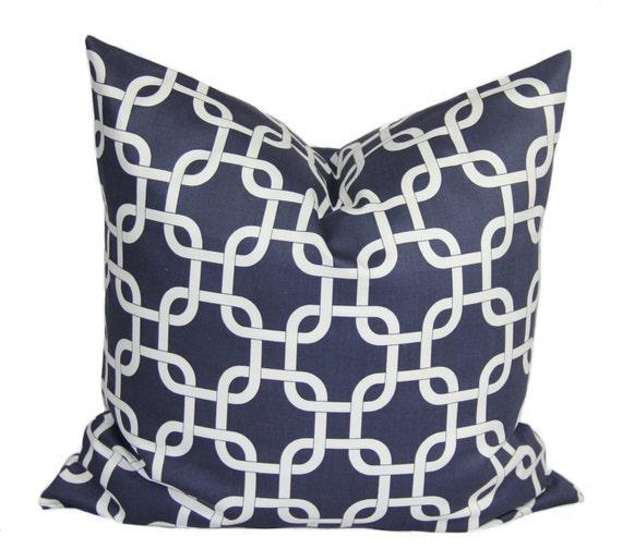 Navy Blue Decorative Bed Pillows : Navy blue pillow Decorative pillow cover 16 x by HomeDecorPillows