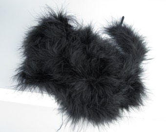 Two Yards Black Marabou Boa Feathers Marabou