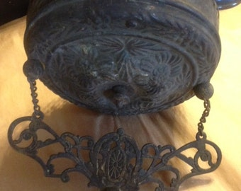 Rare, Ornate Pull Down Oil Lamp Hanger Recoil Fixture