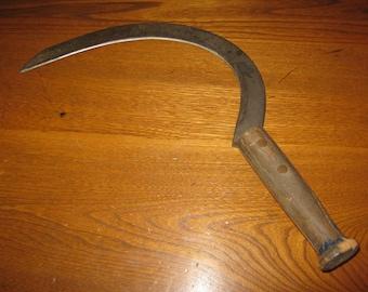 Vintage Farm Tool Hand Sickle or Scythe