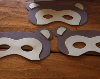 Hand cut foam masks