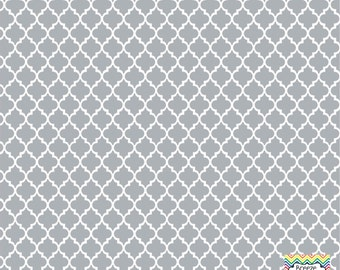 Grey quatrefoil craft  vinyl sheet - HTV or Adhesive Vinyl -  quarterfoil pattern   HTV1416