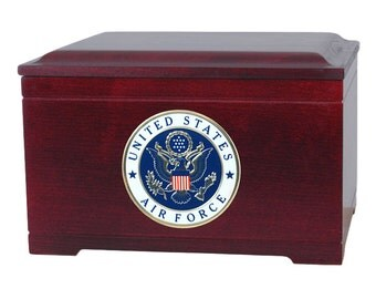 Rosewood Memory Chest Military Wood Cremation Urn
