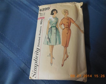 Simplicity pattern #4399 ladies dress from the 50s - 60s.