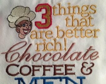Embroidered Funny Tea Towel / Dish Towel