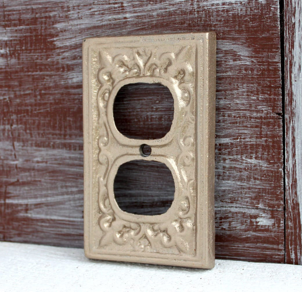 Outlet Cover Outlet Plate Antique Gold Wall Plug Cover
