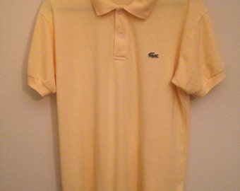 Adult Medium  Lacoste Supersoft  Yellow Adult Medium Made in France