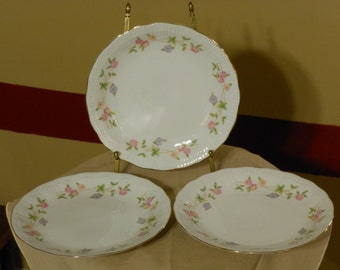 Three Matching Garland Pattern Walbrzych 7.5 Inch Plates