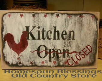 Kitchen Closed sign - hand painted