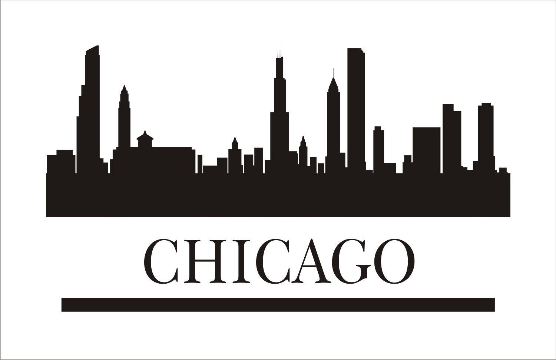 chicago signs stencils 3 pc stencils chicago by chicago skyline vector png chicago skyline vector free