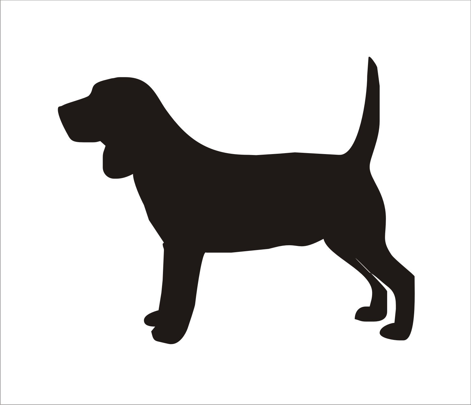 Beagle dog reusable stencils sizes available pillow